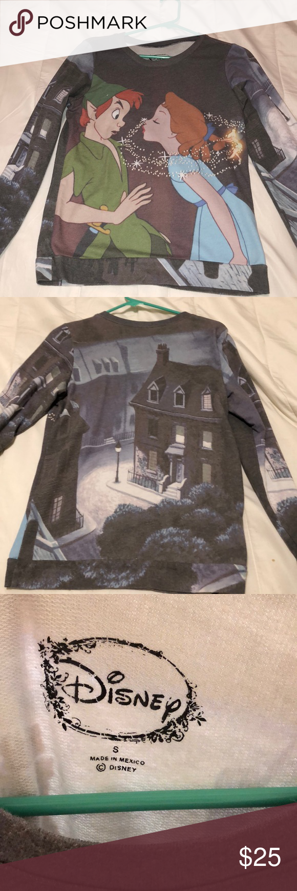 Disney sweater Super cute Peter Pan sweater Disney Sweaters Crew & Scoop Necks