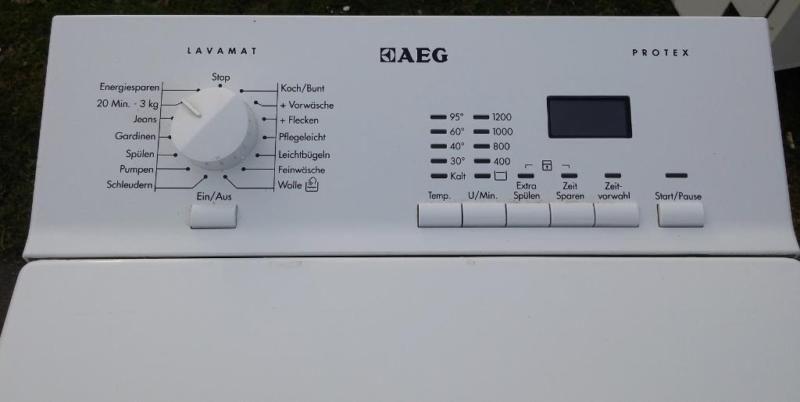 Ich verkaufe hier eine gebrauchte waschmaschine von der firma aeg