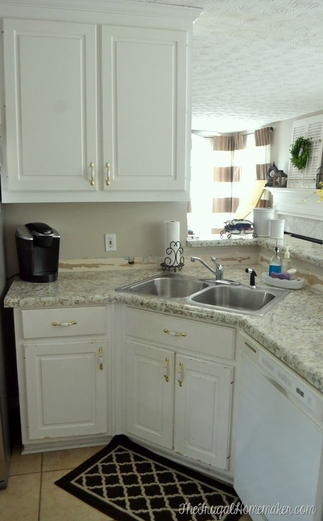 How To Install Your Own Laminate Countertops (we Did And Saved Half The  Cost Of New Countertops!) We Chose Laminate Counters And Love Them!