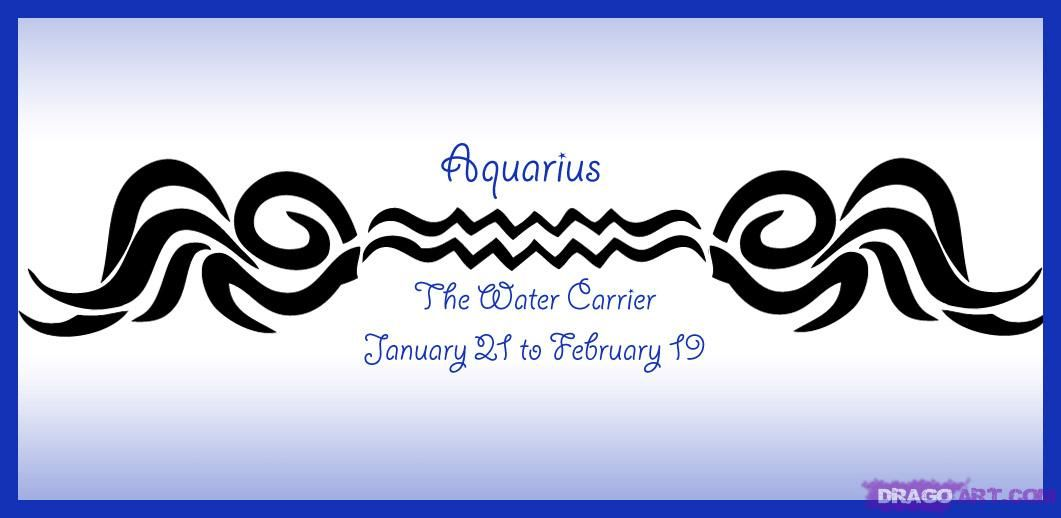 How To Draw Zodiac Sign Aquarius Step By Step Symbols Pop