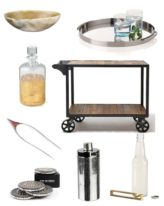 Our Crosshatch Cylinder Decanter featured in @Apartment Therapy's Bar Cart Accessories story! #Design #Modern
