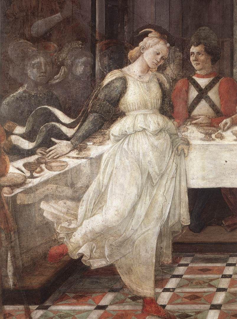 Herod's Banquet (detail), 1452-1465, byFra Filippo Lippi  ArtExperienceNYC   www.artexperiencenyc.com