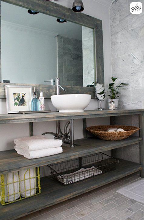 repurposed bathroom vanity and mirror tiles on floor too rh pinterest com Ceramic Tile Crafts Projects Repurposed Metal