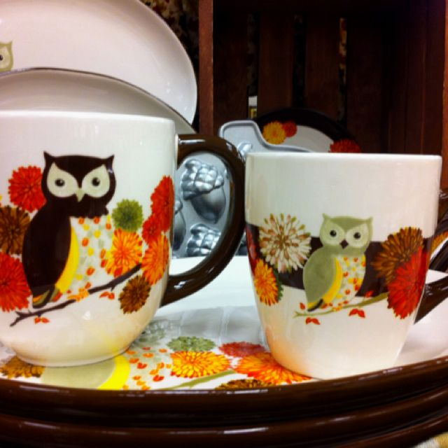Spotted these owl mugs at Kroger and had to drag myself away by the ear. & Spotted these owl mugs at Kroger and had to drag myself away by the ...