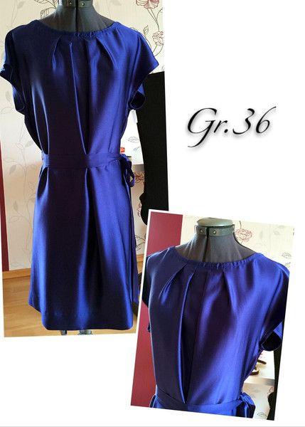 Seide Kleid genäht nach Burda Schnittmuster Gr.36 | Dawanda ...