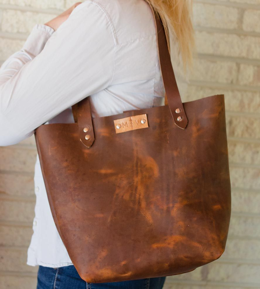 Distressed Leather Tote Bag Made From Sy Oil Tanned This Was Handbags
