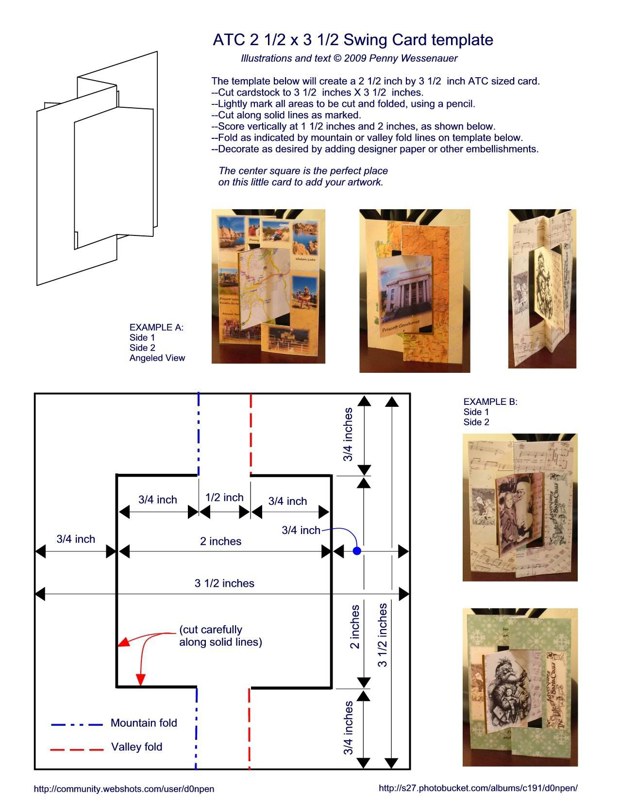Atc Swing Card Photo By D0npen Photobucket Swing Card Step Cards Easel Cards