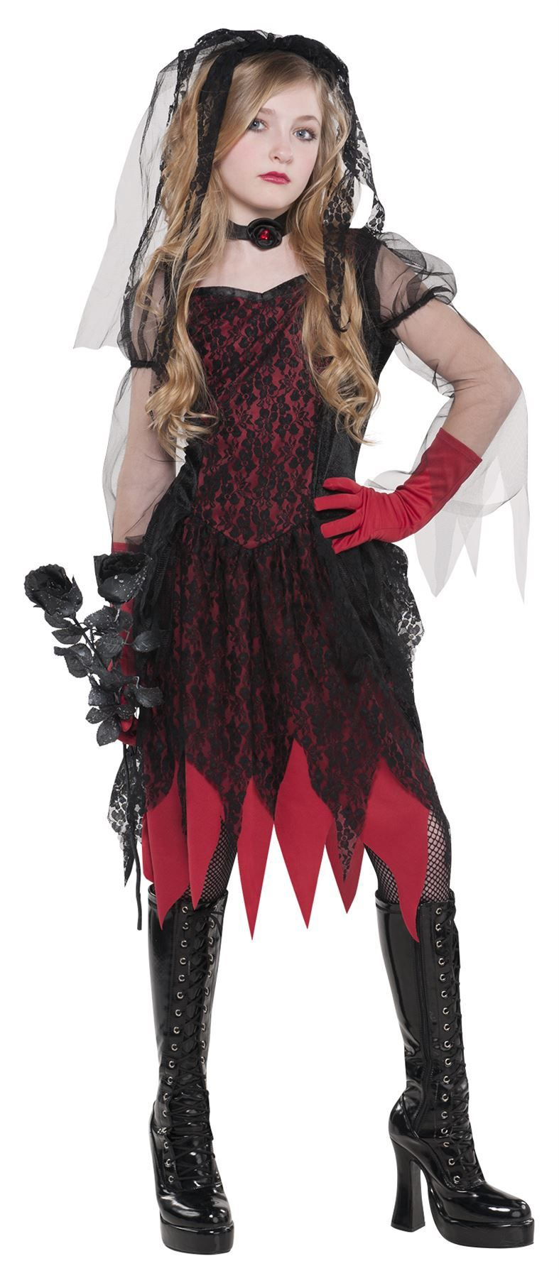 1c64cf9f855 Details about Children Teen Deadly Wed Zombie Costume Ghost Bride ...
