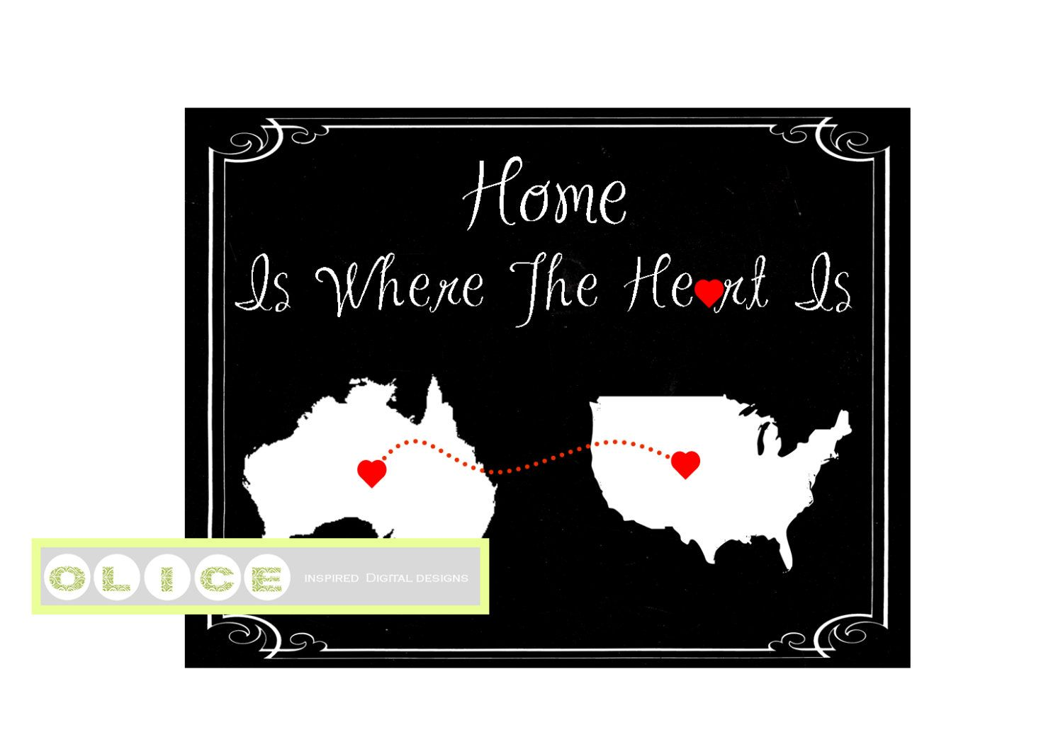 Moving away state print, Mother's day Chalkboard