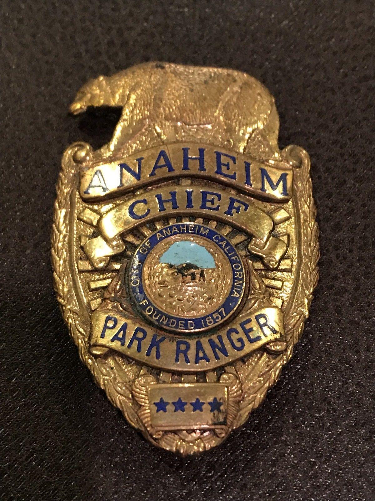 Chief park ranger city of anaheim california entenmann