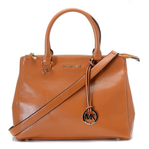 Michael Kors Logo Large Brown Totes