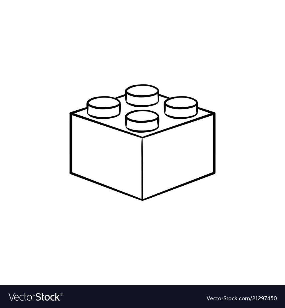 Building Lego Block Hand Drawn Outline Doodle Icon Construction Building Brick Game Concept Vector Sketch Illust Lego Tattoo Doodle Icon How To Draw Hands