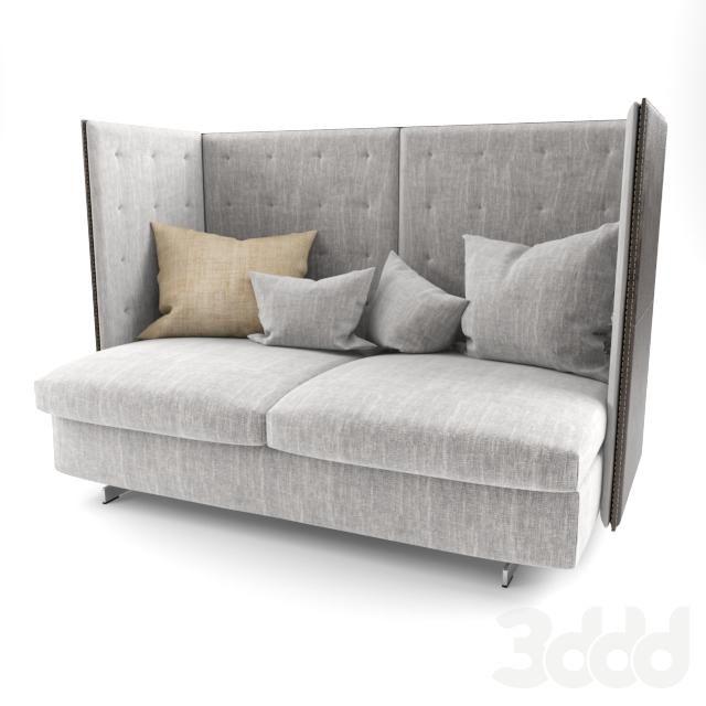 Poltrona frau gran torino hb 2 seater sofa 3d models for Poltrona torino