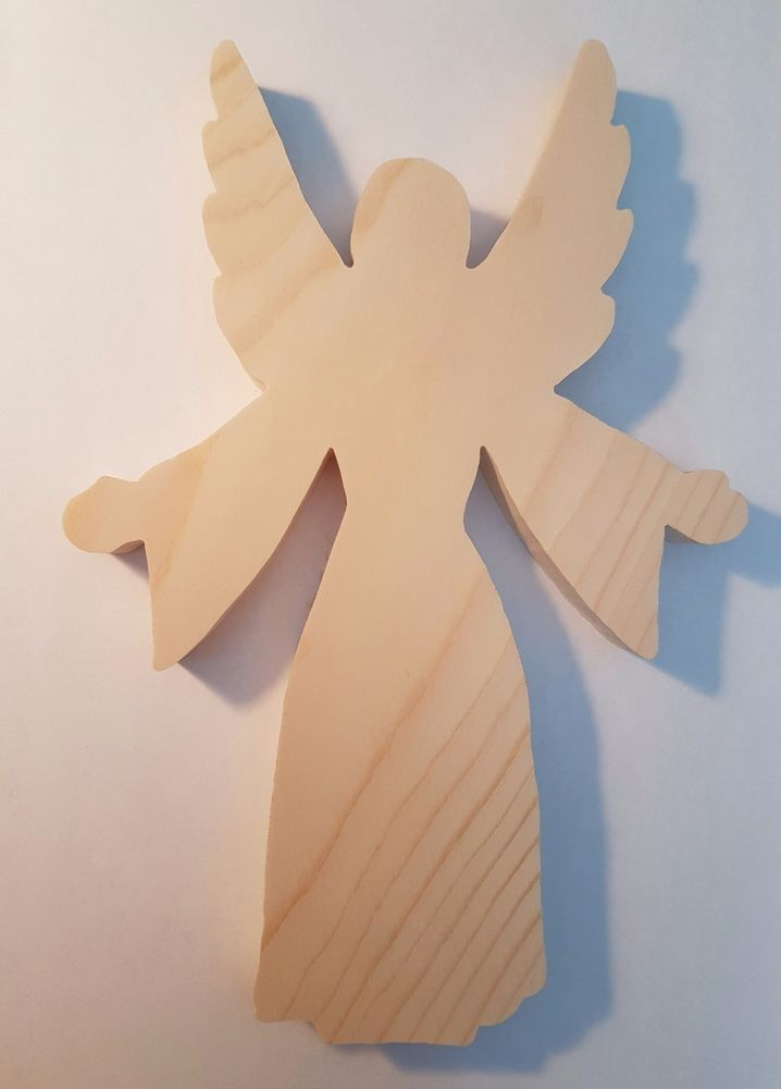 Engel C Aus Holz Natur Traditioneller Christbaumschmuck Ebay