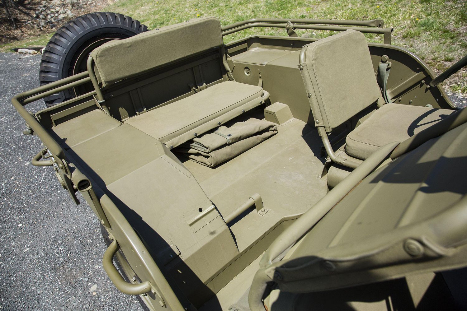 found in crate 1944 willys mb jeep to cross the block