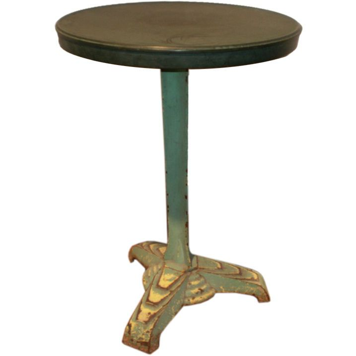 French art deco iron bistro table with bakelite top paris food court table french art art - Deco table paris ...