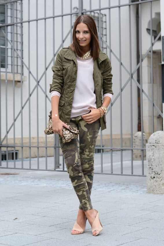 Cómo combinar el Pantalón de Camuflaje para lucir Perfecta
