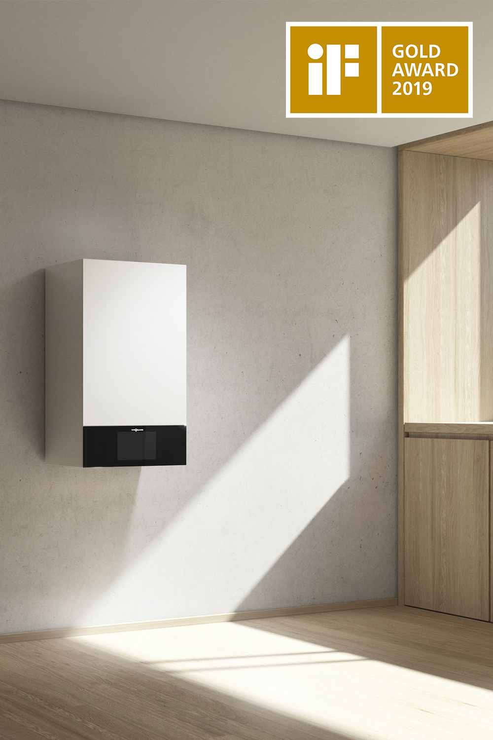 Vitodens 300 Gas Fired Boiler By Viessmann In 2020 Living Spaces Lighting Guide Profile Design