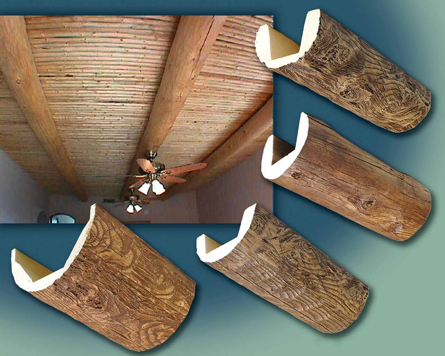 Outwater introduces its faux wood beams diy pinterest for Fake wood beams for ceiling