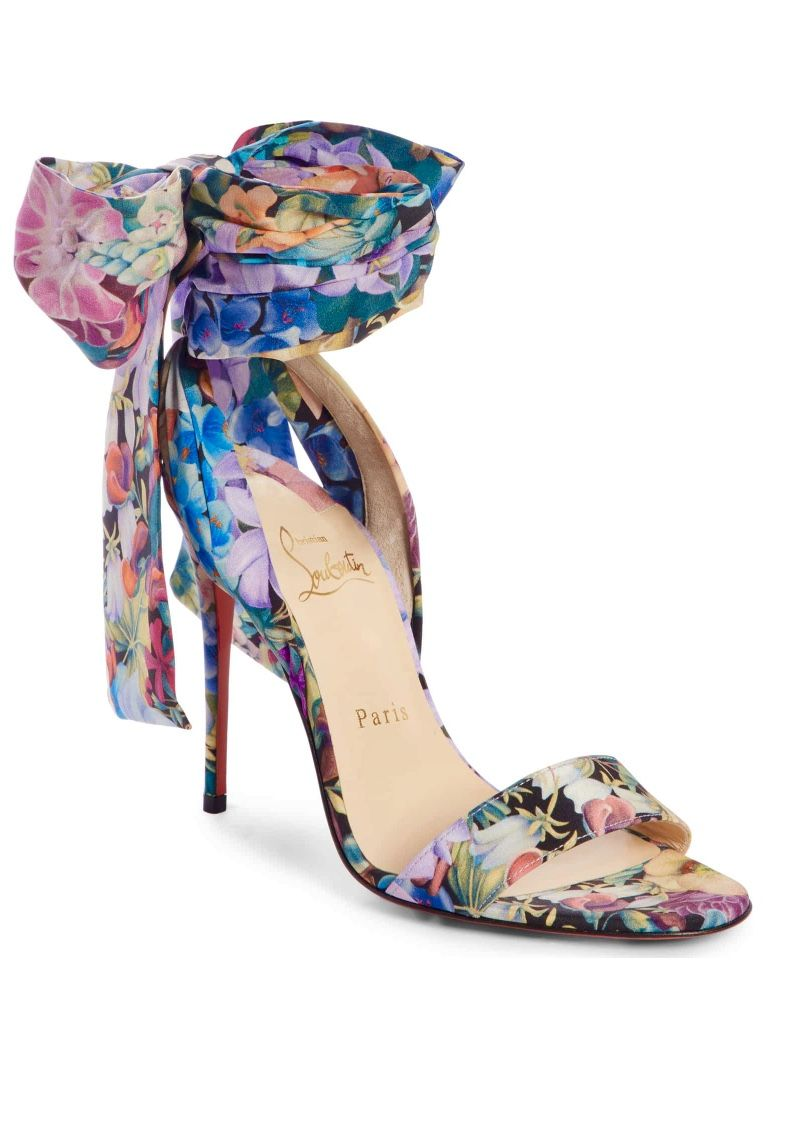 premium selection f496a e4b3b Christian Louboutin desert bow sandal | Sexy shoes, sandals ...
