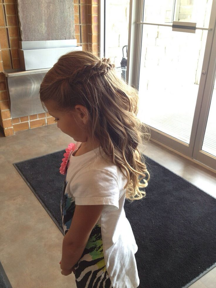 Flower Girl Hair Half Up Half Down Google Search