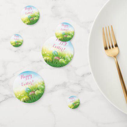 Easter Eggs in the Grass Confetti