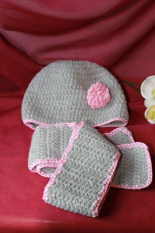 75672c2e5443 Ensemble Bonnet + Echarpe au crochet pour bébé   Mode Bébé par mylittlepearl
