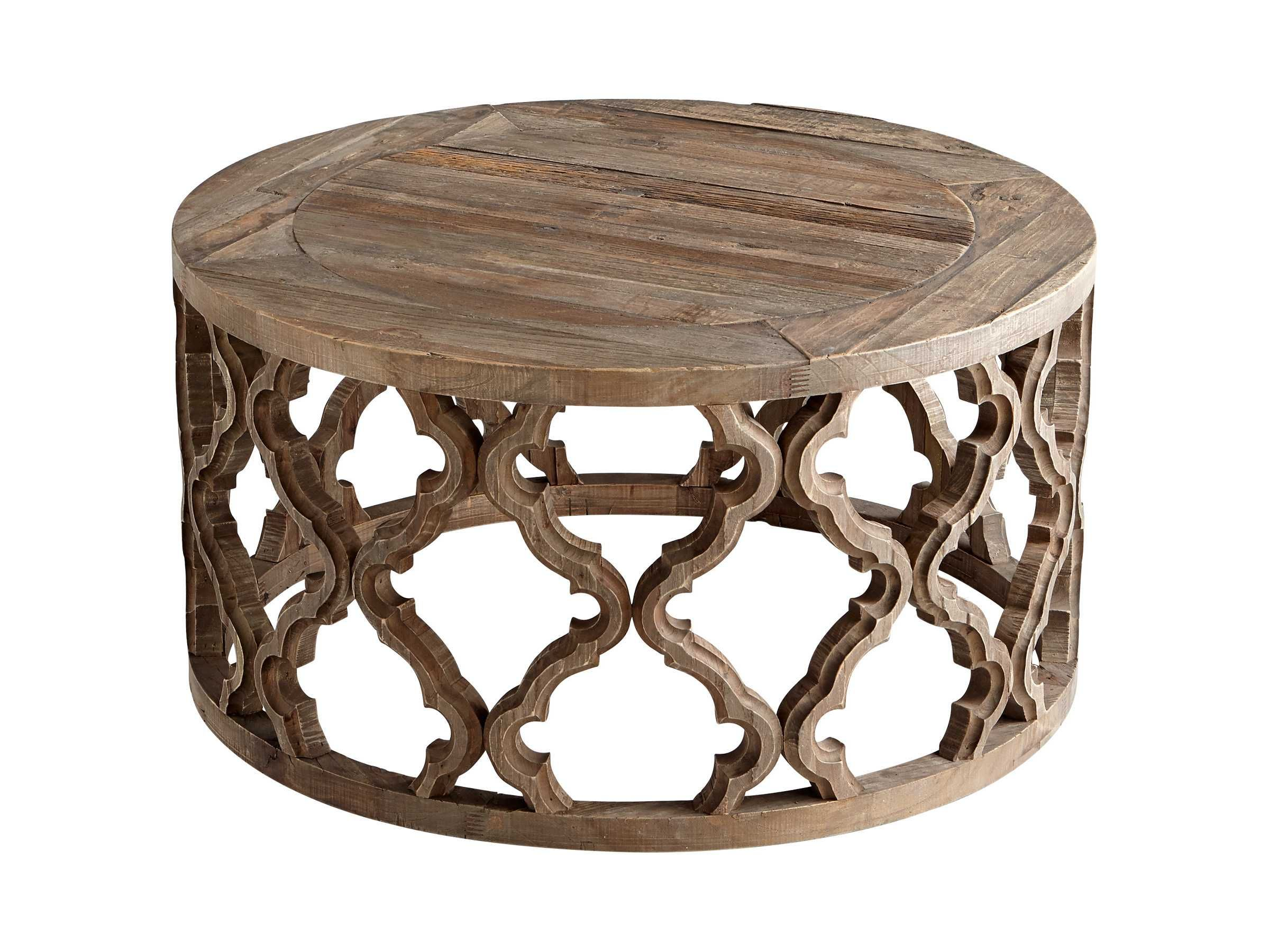 Rustic round coffee table cyan design  round sirah coffee table  sunroomporch