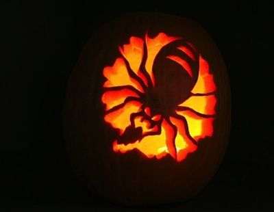 Scary Spider Pumpkin Carving Templates