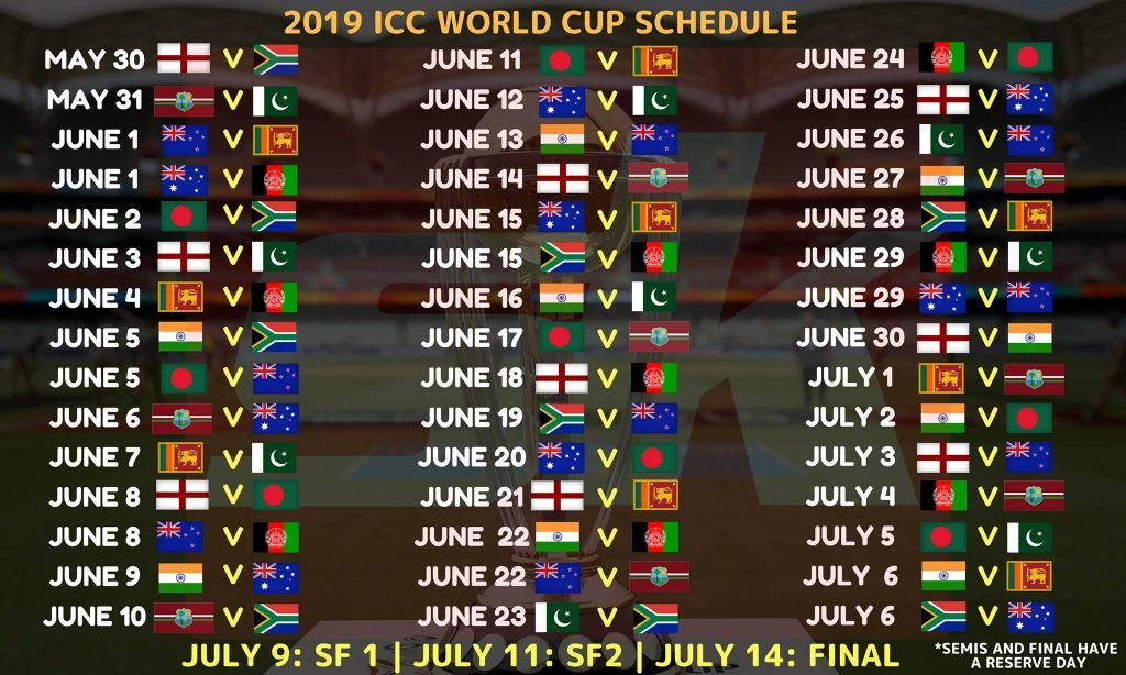 Pin On World Cup Schedule