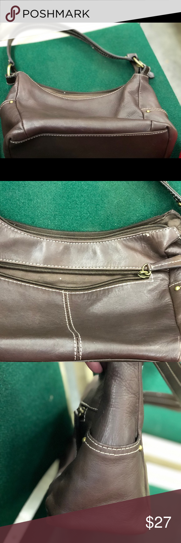Croft Barrow Brown Leather Purse Beautiful Brown Leather