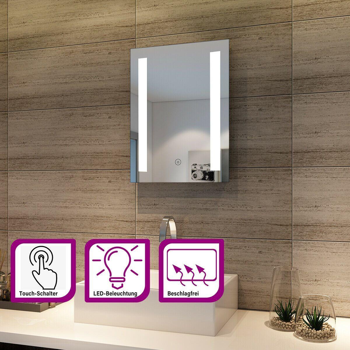 12 Led Bad Spiegel Mit Ledbeleuchtung Kaltweiss Ip Energiesparender Led Energie Sparen Weisse Badezimmer