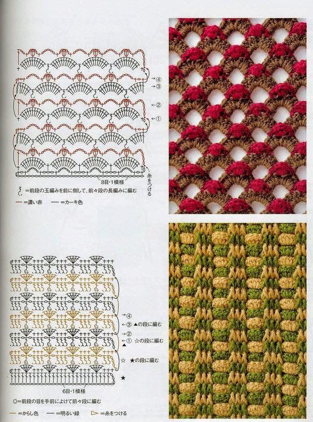 7 patrones de puntos crochet muy lindos | croquet | Pinterest ...
