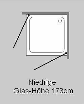 eck dusche mit 2 tren klarglas chrom combia - Dusche Glastur Nach Mas 2