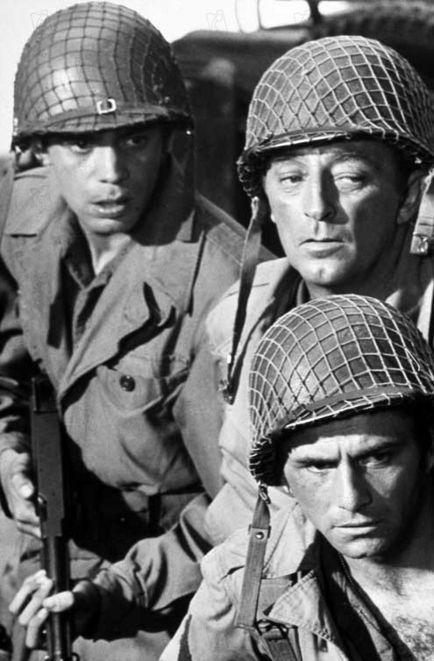 THE LONGEST DAY (1962) - Mark Damon, Robert Mitchum & Peter