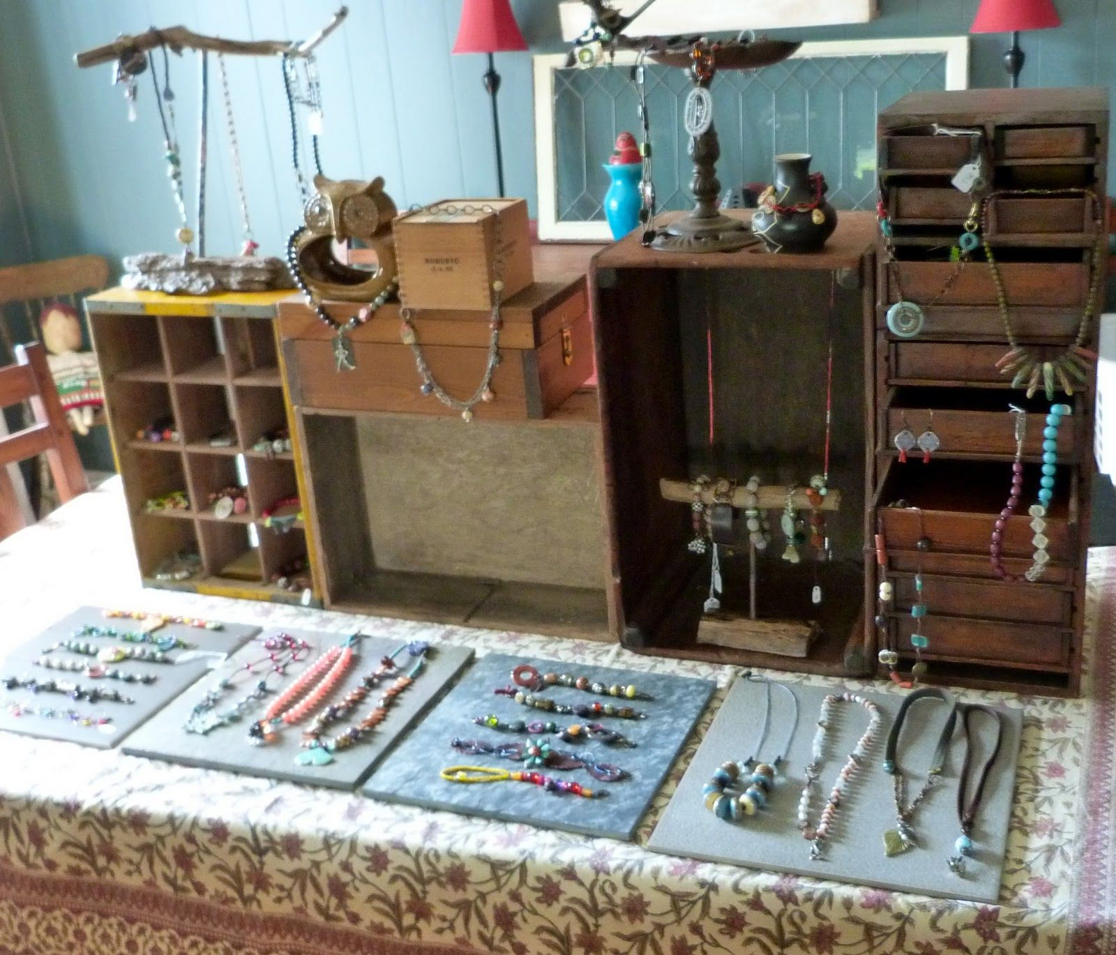 I did have a productive weekend i worked on my display for Craft show jewelry display
