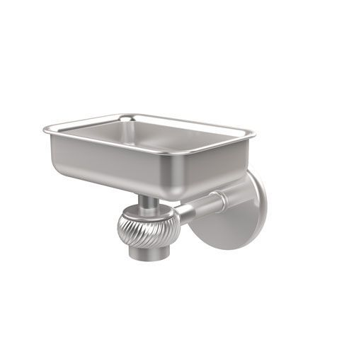 Satellite Orbit One Wall Mounted Soap Dish with Twisted Accents, Satin Chrome - (In No Image Available)