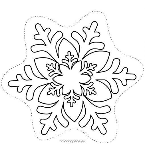 PrintableSnowflakeTemplate  Xmas Coloring    Snowflake