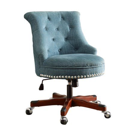 Linon Sinclair Office Chair Multiple Finishes 20 24 Inch Seat
