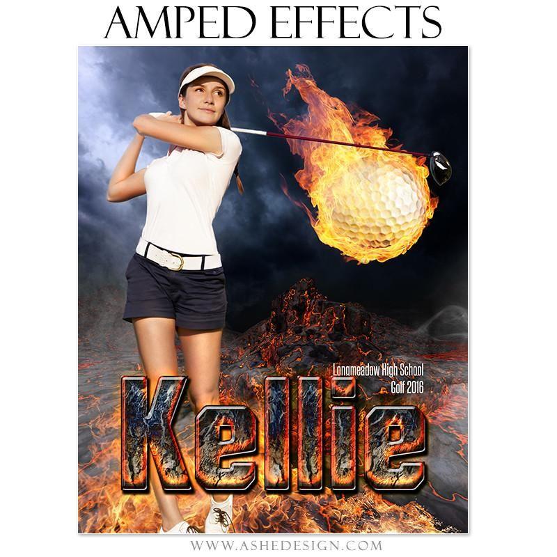 Amped Effects Fire Ball Golf Golf, Club face, Golf