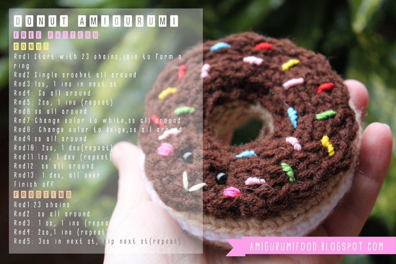 Donut free pattern crochet food amigurumi food amigurumi donut free pattern crochet food amigurumi food bankloansurffo Choice Image