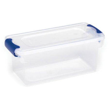 Homz Small Clear Plastic Storage Containers Set of 5 Walmartcom