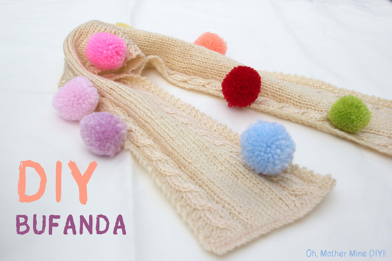 DIY Como hacer bufanda de niño o niña (patrón gratis) (+lista de ...