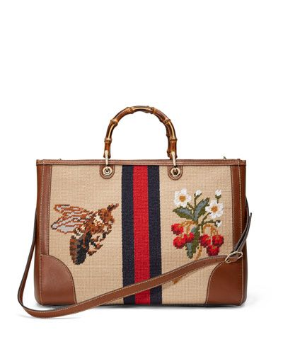 9cd7540bf6ff13 Gucci needlepoint bag. | Style in 2019 | Bags, Gucci bamboo, Bag ...