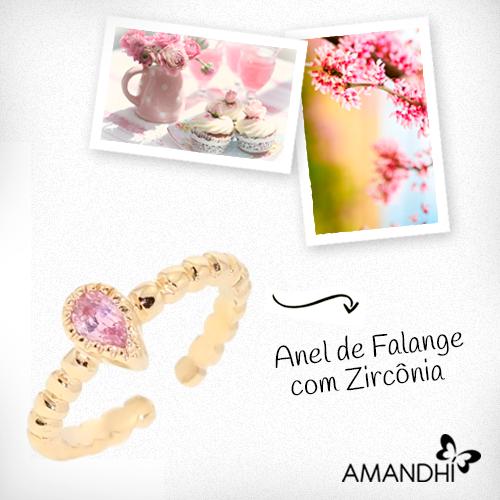 O anel de falange é delicado e perfeito para descontrair seu visual! | Amandhí | www.amandhi.com |