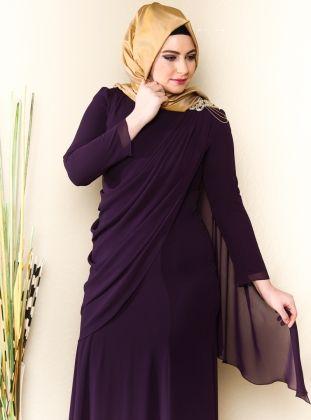 27a21272b2106 Tesettür Büyük Beden Abiye Elbise - Modanisa.com | Begüm koleksiyonu ...