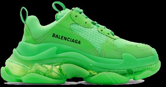 Balenciaga Triple S Trainers Neon Green