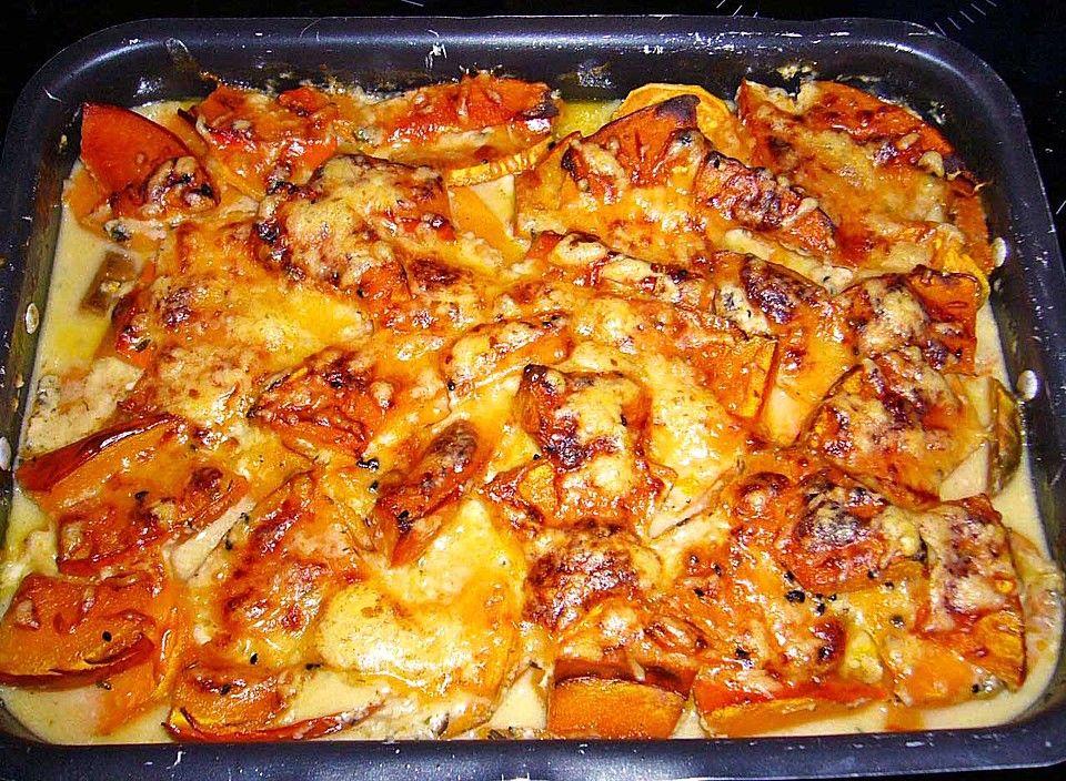 Kokos-Kürbis-Süßkartoffel-Gratin Casserole and Food - kürbissuppe rezept chefkoch