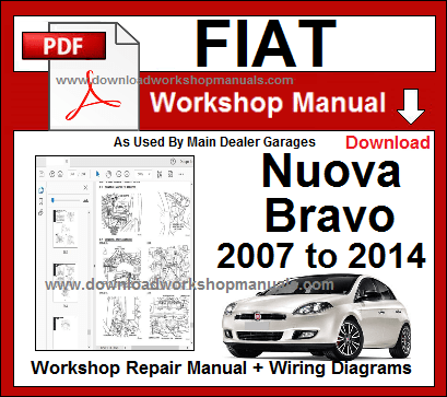 Fiat Bravo Workshop Manual 2007 To 2014 Repair Manuals Fiat Fiat Bravo