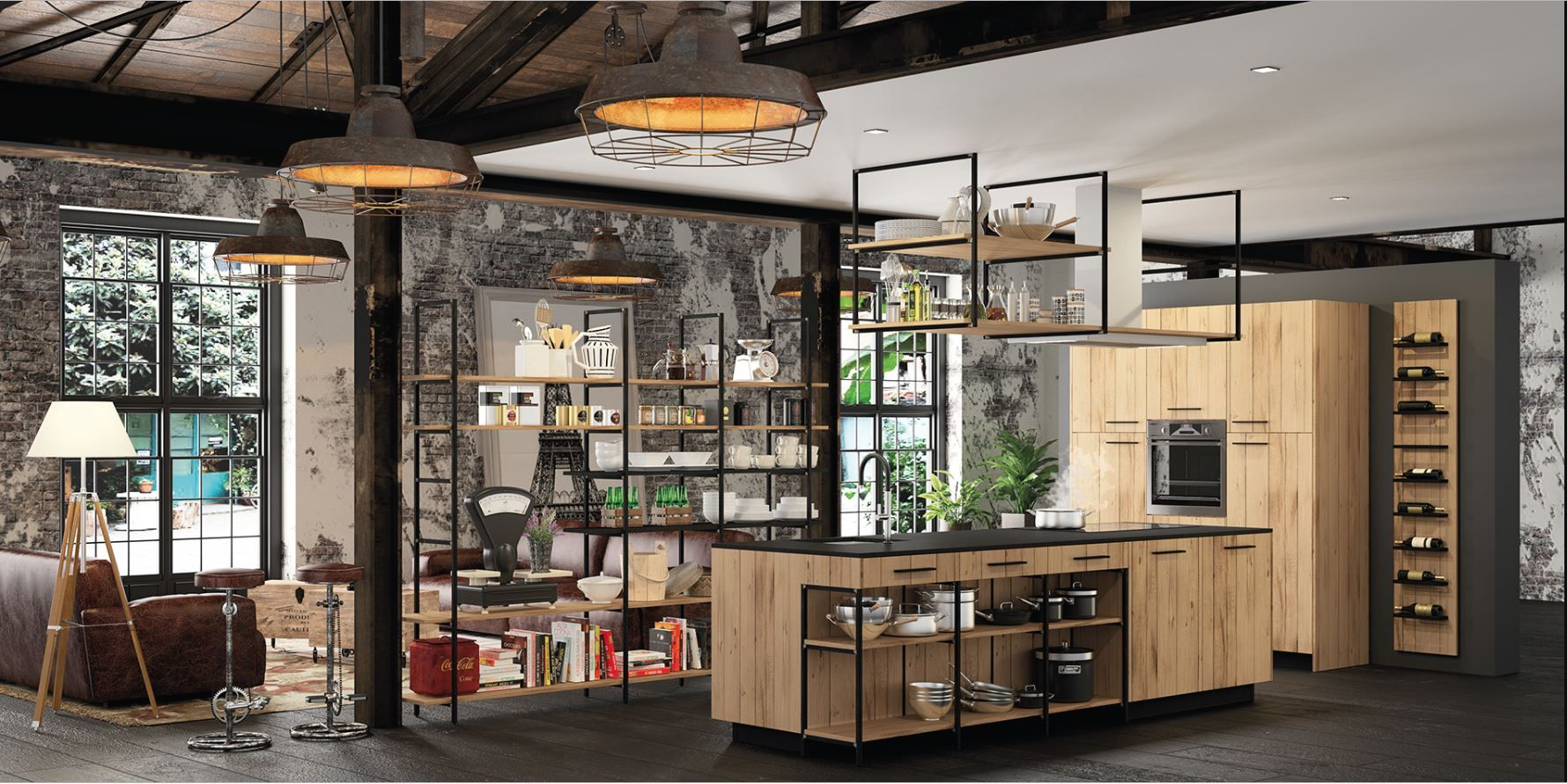 Cuisine Type Industrielle En Bois Cuisine Style Industriel Cuisines Design Style Industriel